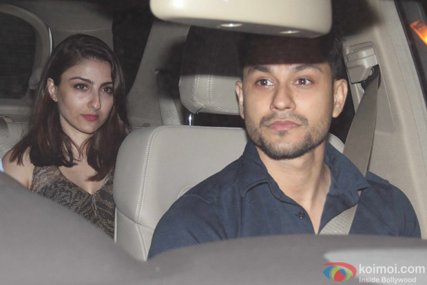 Kunal Khemu and Soha Ali Khan at Karan Johar's House