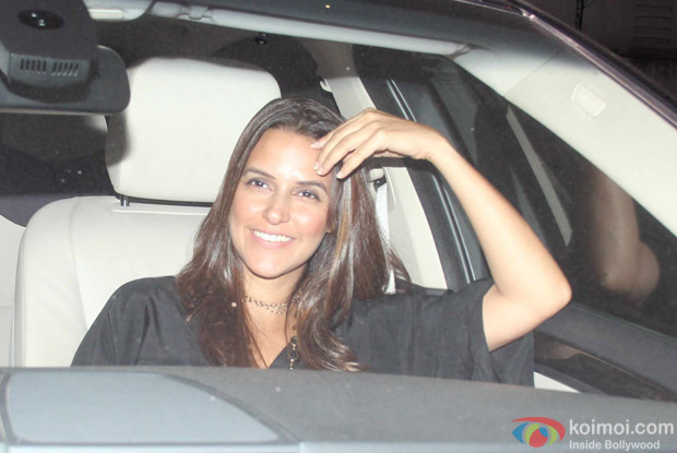 Neha Dhupia at Karan Johar's House