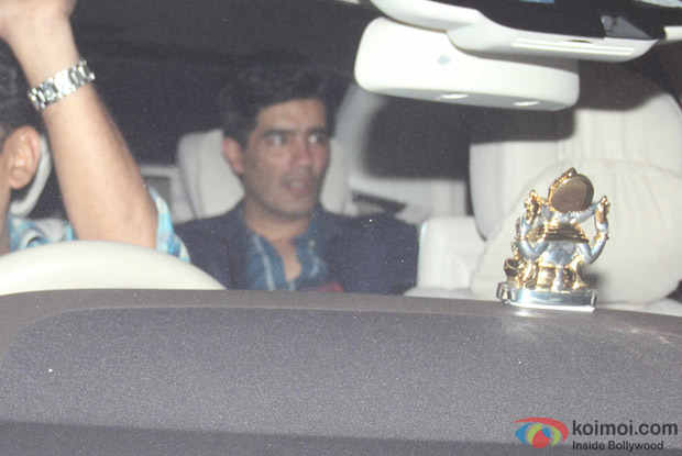 Manish Malhotra at Karan Johar's House