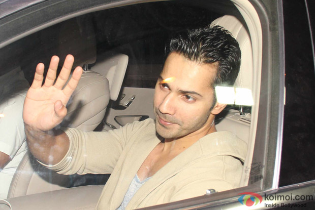 Varun dhawan at Karan Johar's House