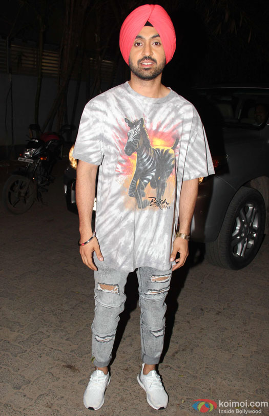 Diljit Dosanjh during the special screening of film 'Udta Punjab'