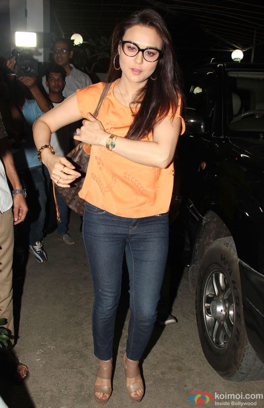 Preity Zinta during the special screening of film 'Udta Punjab'
