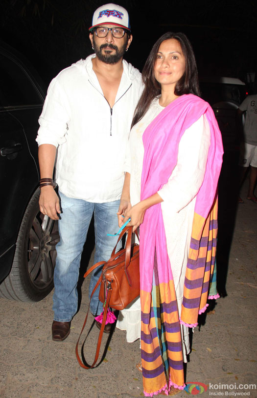 Arshad Warsi and Maria Goretti during the special screening of film 'Udta Punjab'