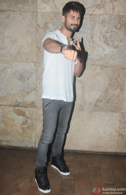 Shahid Kapoor during the special screening of film 'Udta Punjab'