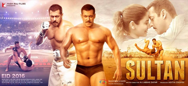 Salman Khan and Anushka Sharma starrer 'Sultan' Movie Poster