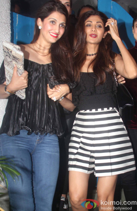 Shilpa Shetty spotted outside Olive Bar in Bandra.