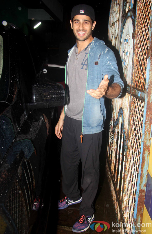 Sidharth Malhotra snapped outside the gym.
