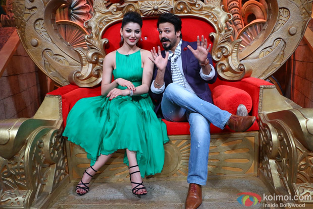 Vivek Oberoi and Urvashi Rautela on the sets of Comedy Nights Bachao