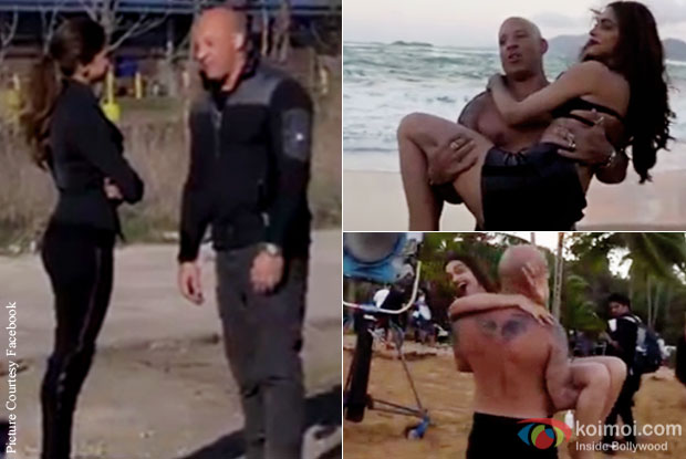 ‪Caught On Camera: Deepika Padukone - Vin Diesel's Sizzling Chemistry From XXX Sets
