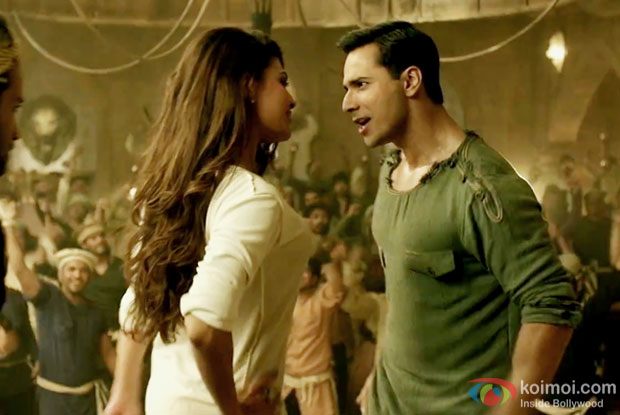 Jacqueline Fernandez and Varun Dhawan in a still from Dishoom