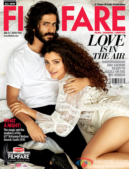 Harshvardhan Kapoor And Saiyami Kher On The Filmfare Cover