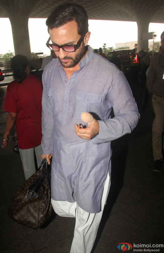 Saif Ali Khan Spotted At Airport