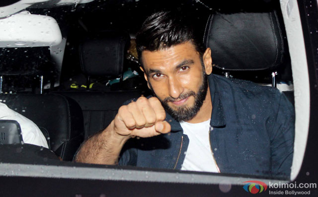 Ranveer Singh at Special Screening Of Dishoom