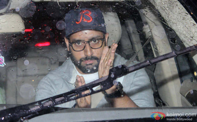 Abhishek Bachchan at Special Screening Of Dishoom