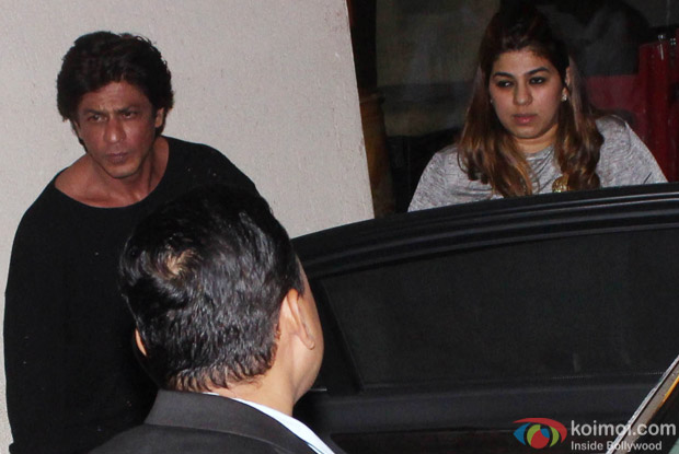 Shah Rukh Khan spotted at korner house