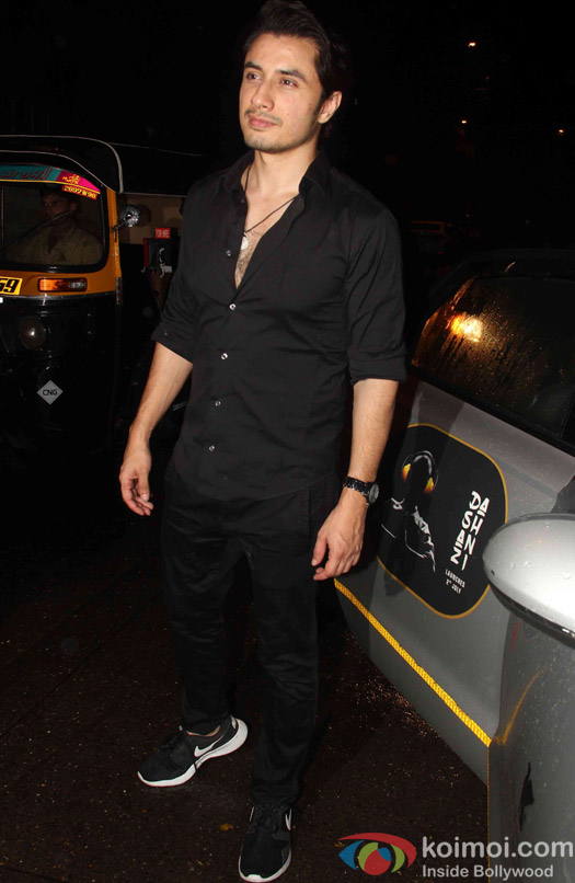 Ali Zafar spotted at korner house