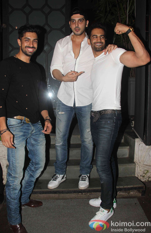 Zayed Khan and Upen Patel spotted at korner house