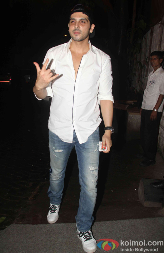 Zayed Khan spotted at korner house