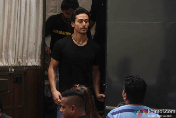 Tiger Shroff on the sets of The Voice India Kids show