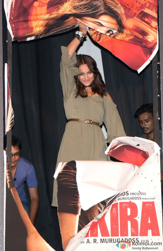 Sonakshi Sinha during the trailer launch of film 'Akira'