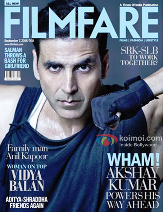 Akshay Kumar Shows His Power On The Latest Edition Of Filmfare Magazine