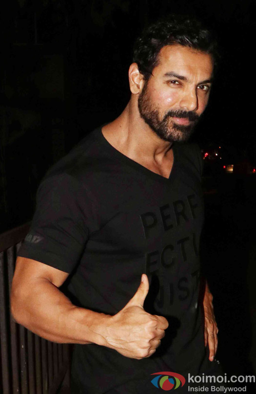 John Abraham spotted at santacruze