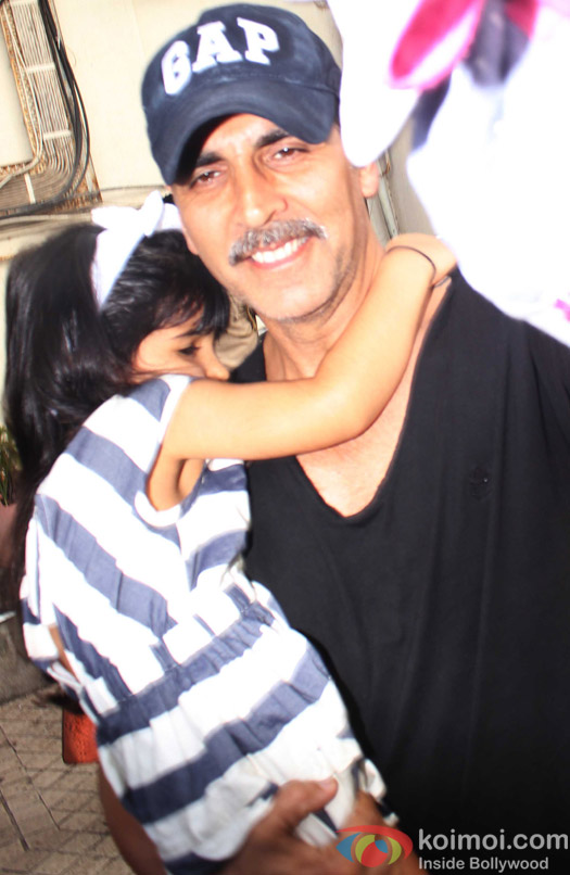 Akshay Kumar with Nitara spotted at PVR juhu