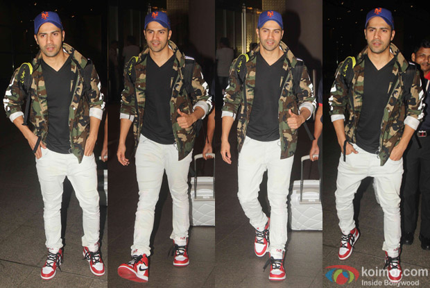 Varun Dhawan spotted at Airport