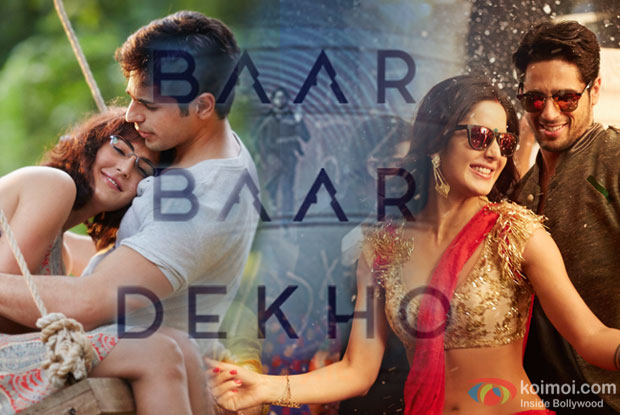 Katrina Kaif and Sidharth Malhotra in a still from Baar Baar Dheko
