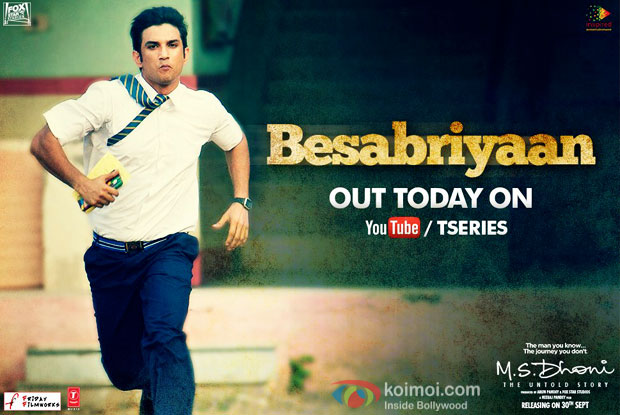 Besabriyaan Song Still M.S. Dhoni: The Untold Story| Ft. Sushant As A Teenager