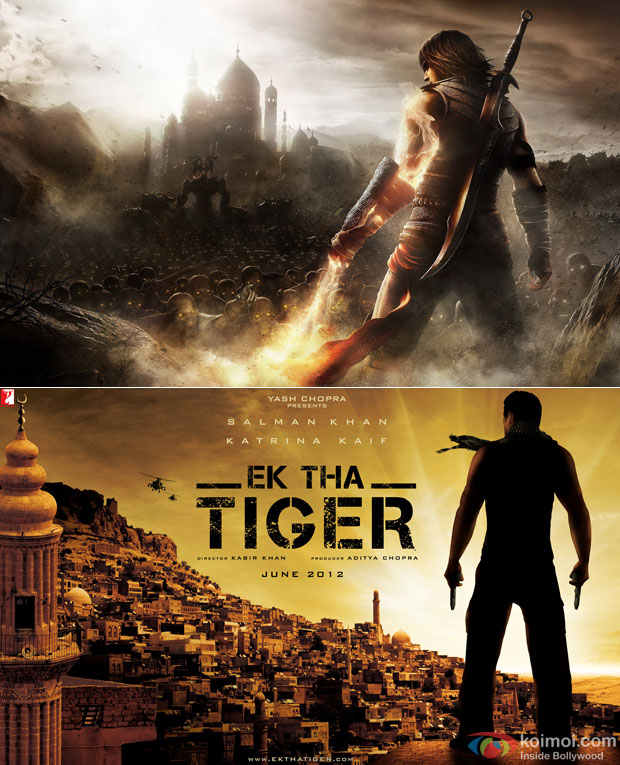 Ek Tha Tiger & Prince Of Persia Game: Copied A Game Poster..Really?
