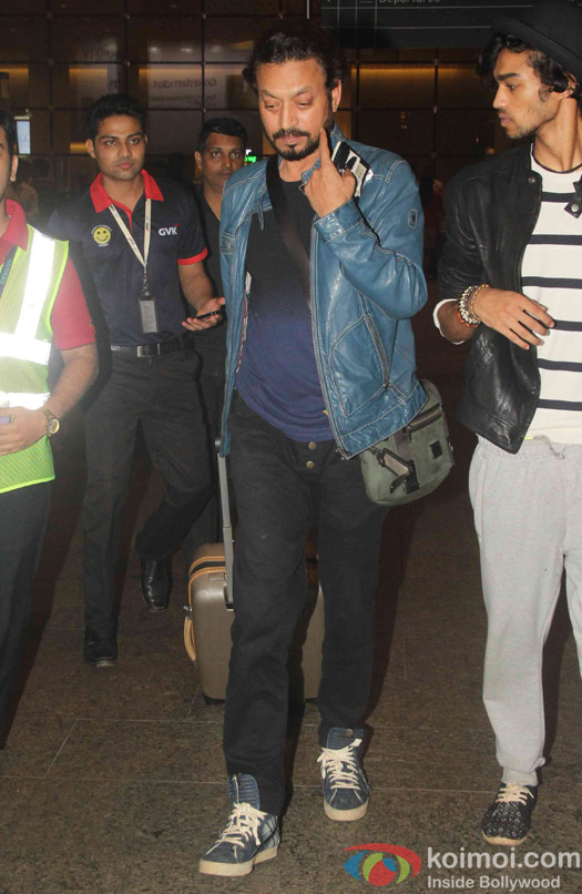 Irrfan Khan spotted at airport