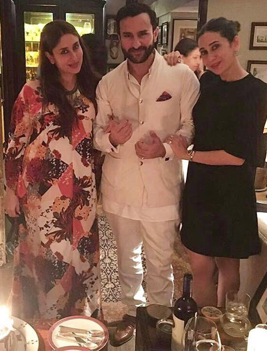 Kareena Kapoor Khan and Karisma Kapoor Spotted During the Saif ali Khan's Birthday Celebration