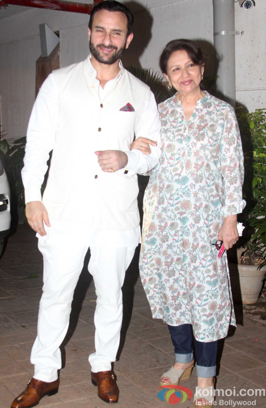 Sharmila Tagore Spotted During the Saif ali Khan's Birthday Celebration