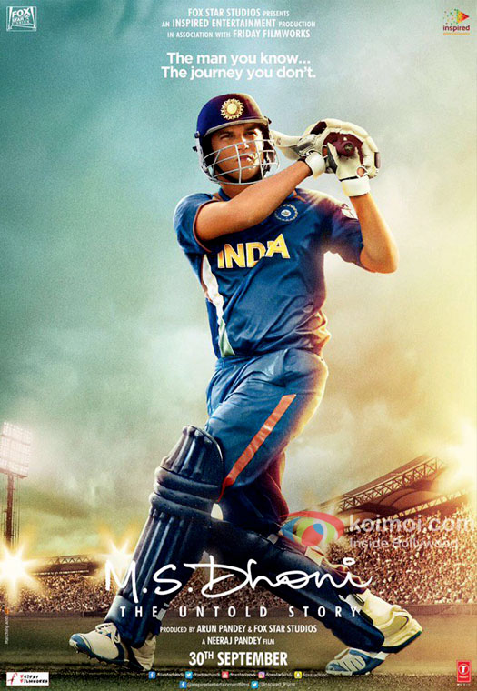 M S Dhoni Poster: Sushant Singh Rajput Flicks His Bat In Style