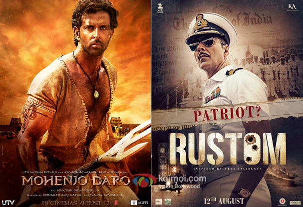 Box Office : Mohenjo Daro And Rustom