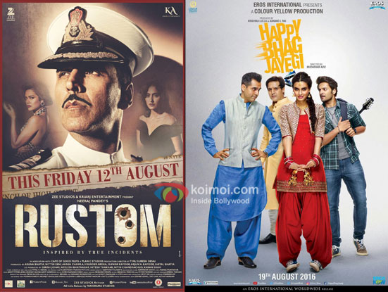 Morning Occupancy Box Office Report| Happy Bhag Jayegi Opens Low, Rustom Continues To Rule