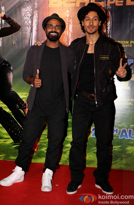 ... Tiger Shroff & Remo D'Souza during The Song Launch Of Beat Pe Booty