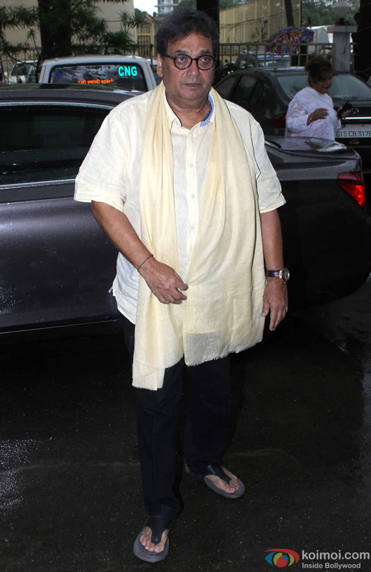 Subhash Ghai at Prayer Meet for filmmaker Rajjat Barjatya