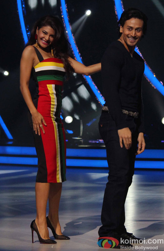 Tiger Shroff and jacqueline Fernandez during the Promotion of A Flying Jatt on the sets Jhalak Dikhhla Jaa season 9