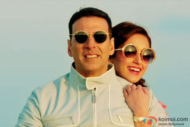 Akshay Kumar and Ileana DCruz in a still from Rustom