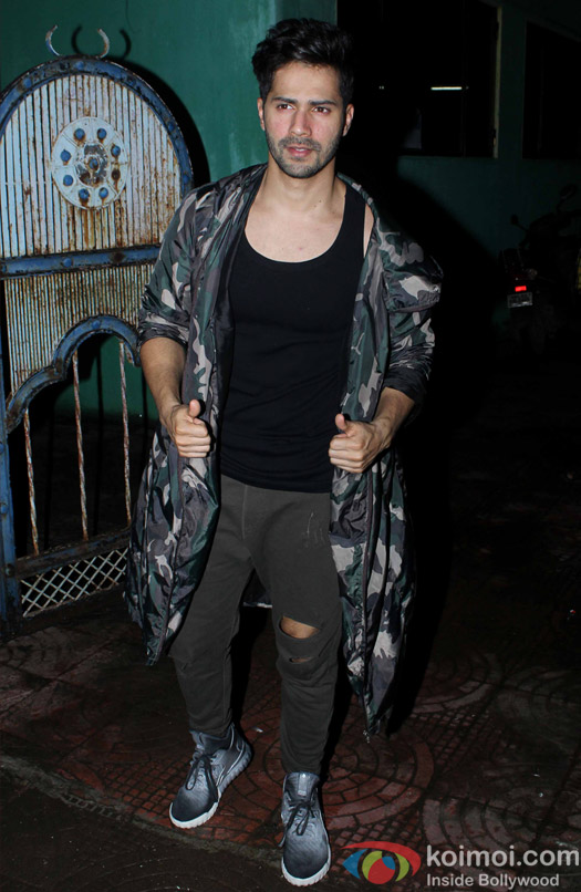 Varun Dhawan snapped At post 'Dream Team Concert' dance practice