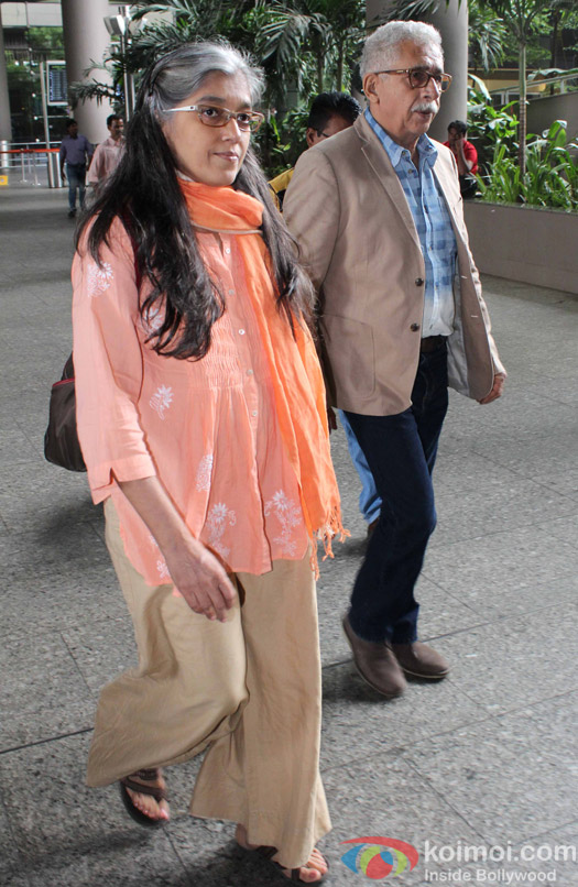 Ratna Pathak and Naseeruddin Shah Spotted at Airport