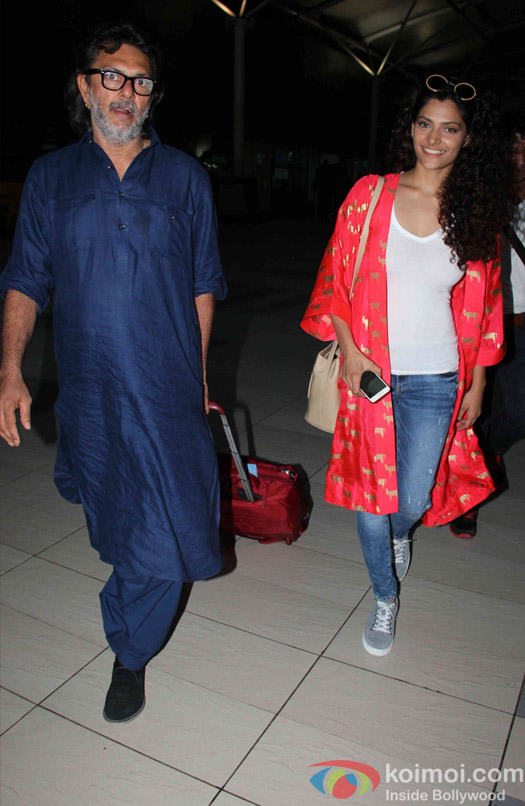 Saiyami Kher and Rakeysh Omprakash Mehra Spotted At Airport