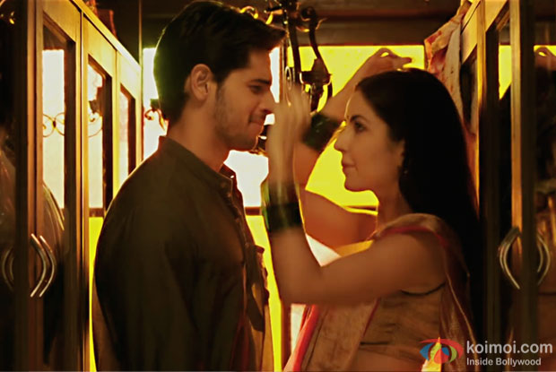 Sidharth Malhotra and Katrina Kaif in a still from Baar Baar Dekho