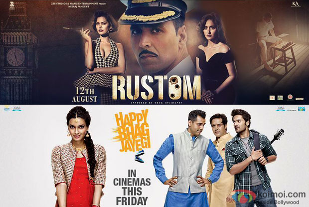 Box Office Updates - Rustom and Happy Bhag Jayegi