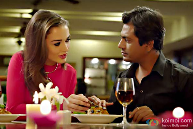 Amy Jackson and Nawazuddin Siddiqui in a still from Freaky Ali