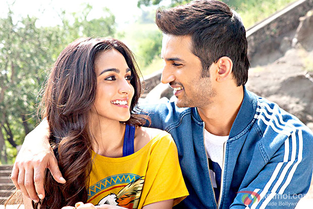 Kiara Advani and Sushant Singh Rajput in a still from M.S. Dhoni: The Untold Story