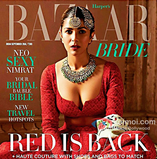 Nimrat Kaur Looks Red Hot On The Latest Cover Of Harper's Bazaar Bride