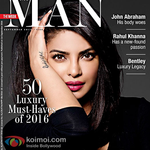 Priyanka Chopra On The Man Cover